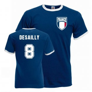 Marcel Desailly France Ringer Tee (blue)