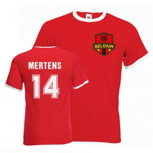 Dries Mertens Belgium Ringer Tee (red)