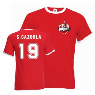 Santi Cazorla Arsenal Ringer Tee (red)