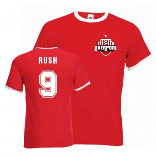 Ian Rush Liverpool Ringer Tee (red)