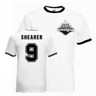 Alan Shearer Newcastle Ringer Tee (black)