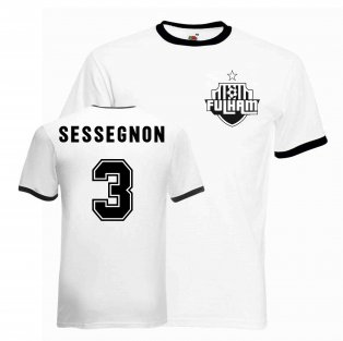 Ryan Sessegnon Fulham Ringer Tee (white-black)