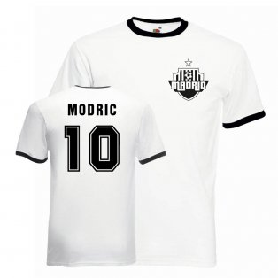 Luka Modric Real Madrid Ringer Tee (white-black)