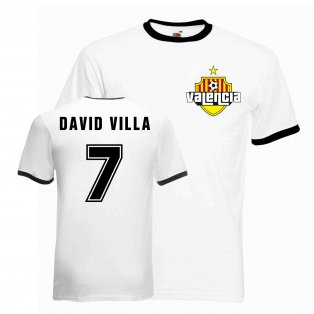David Villa Valencia Ringer Tee (white-black)