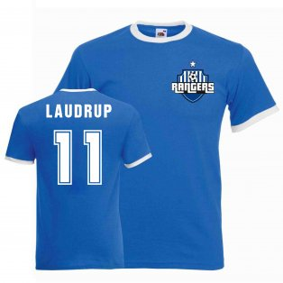 Brian Laudrup Rangers Ringer Tee (blue)