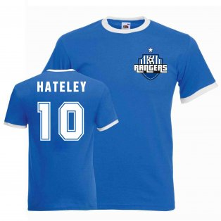 Mark Hateley Rangers Ringer Tee (blue)