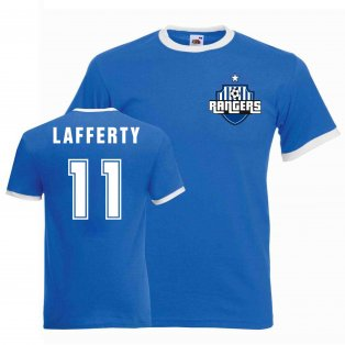 Kyle Lafferty Rangers Ringer Tee (blue)