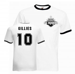 Ricky Gillies St Mirren Ringer Tee (white-black)