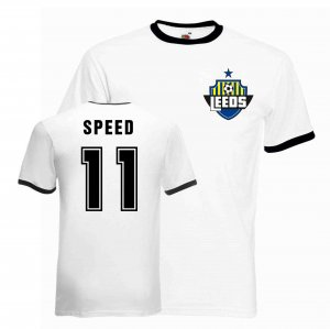 Gary Speed Leeds Ringer Tee (white-black)