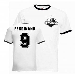 Les Ferdinand Newcastle Ringer Tee (white-black)
