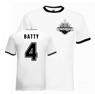 David Batty Newcastle Ringer Tee (white-black)