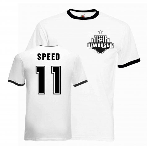 Gary Speed Newcastle Ringer Tee (white-black)