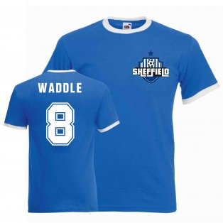 Chris Waddle Sheffield Wednesday Ringer Tee (blue)