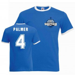 Carlton Palmer Sheffield Wednesday Ringer Tee (blue)
