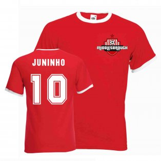 Juninho Middlesborough Ringer Tee (red)