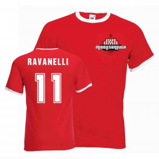 Fabrizio Ravanelli Middlesborough Ringer Tee (red)