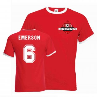 Emerson Middlesborough Ringer Tee (red)