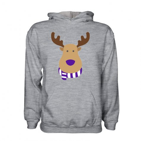 Real Madrid Rudolph Supporters Hoody (grey) - Kids