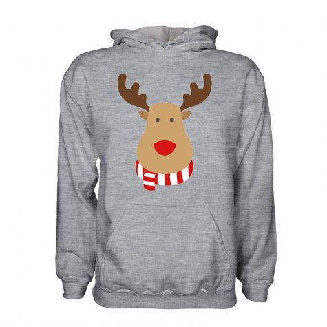 Wales Rudolph Supporters Hoody (grey) - Kids