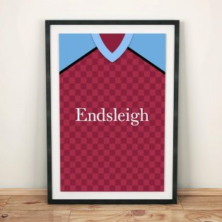 Burnley 1988 Football Shirt Art Print
