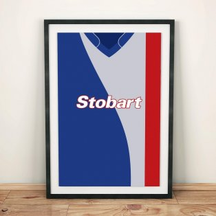 Carlisle United 07/08 Football Shirt Art Print