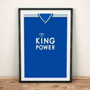Leicester City 18/19 Football Shirt Art Print