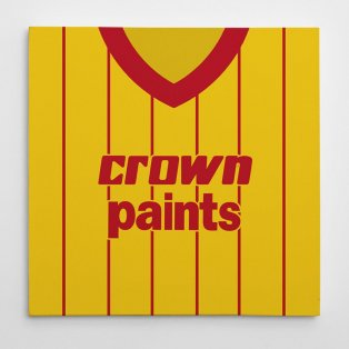 Liverpool 1982 Away Football Canvas Print