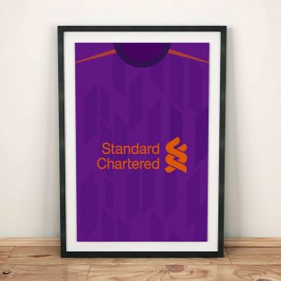 Liverpool 18/19 Away Football Shirt Art Print