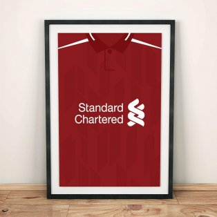 Liverpool 18/19 Football Shirt Art Print