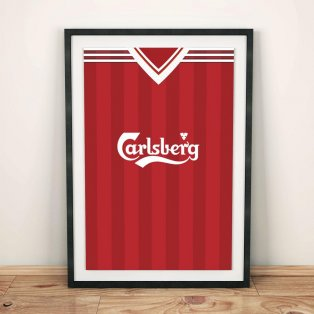 Liverpool 1995 Football Shirt Art Print