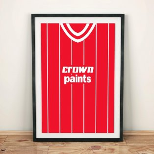 Liverpool 1984 Football Shirt Art Print