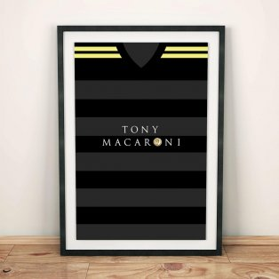 Livingston 17/18 Away Football Shirt Art Print