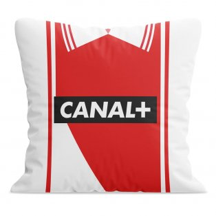 Monaco Retro Football Cushion