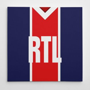 PSG 1982 Football Canvas Print