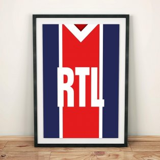 PSG 1981-82 Football Shirt Art Print