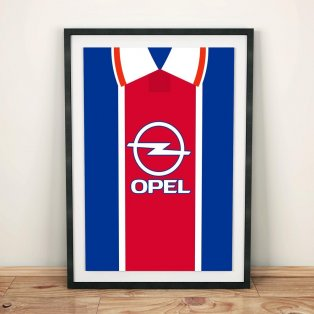 PSG 1995 Football Shirt Art Print