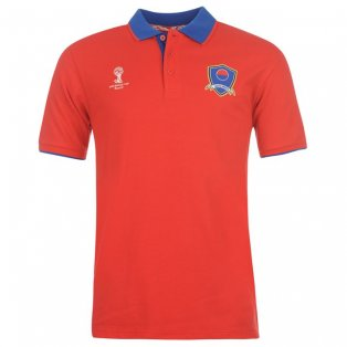 South Korea 2014 FIFA Core Polo Shirt (Red)