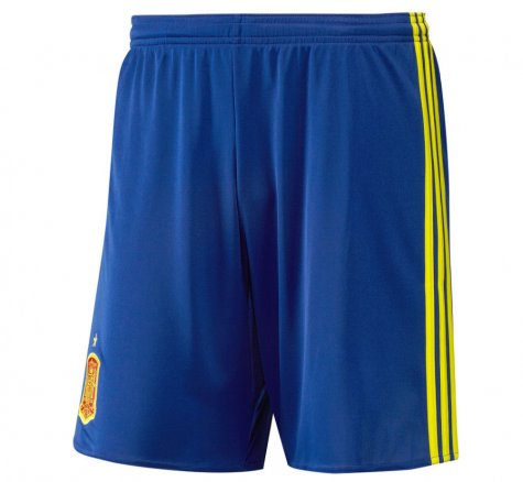 2016-2017 Spain Home Adidas Football Shorts (Blue)
