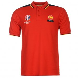 Spain UEFA Euro 2016 Polo Shirt (Red)