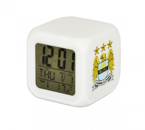 Manchester City Digital Cube Clock
