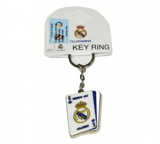 Real Madrid Playing Card Keyring