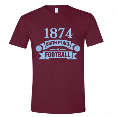 Aston Villa Birth Of Football T-shirt (claret)