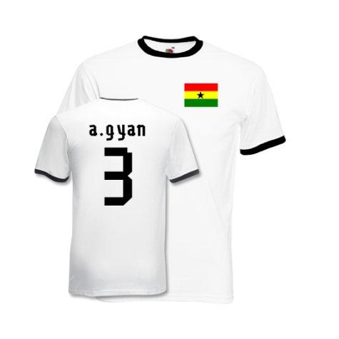 Asamoah Gyan Ghana Ringer Tee (white)