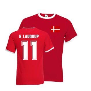 Brian Laudrup Denmark Ringer Tee (red)