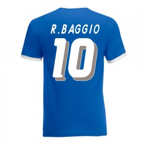 Roberto Baggio Italy Ringer Tee (blue)
