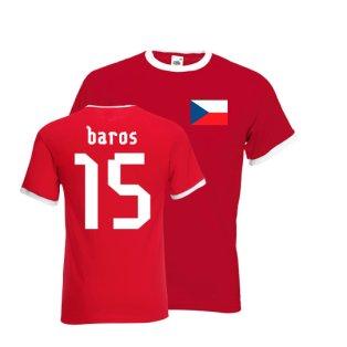 Milan Baros Czech Republic Ringer Tee (red)
