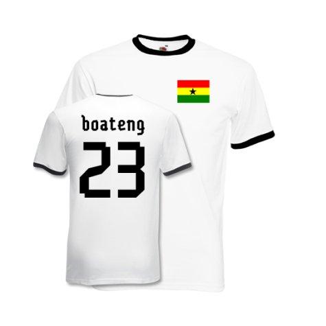 Kevin Prince Boateng Ghana Ringer Tee (white)