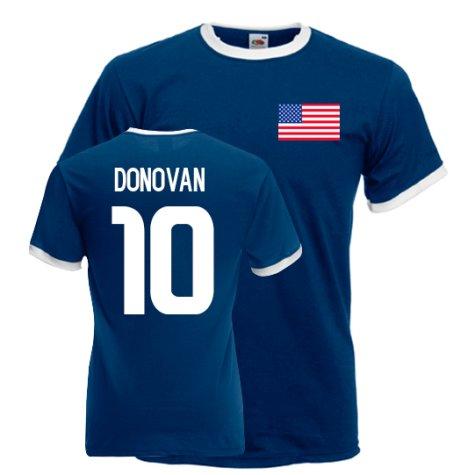 Landon Donovan Usa Ringer Tee (navy)