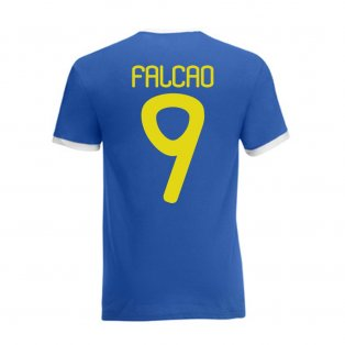 Falcao Colombia Ringer Tee (blue)