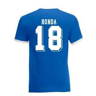 Keisuke Honda Japan Ringer Tee (blue)